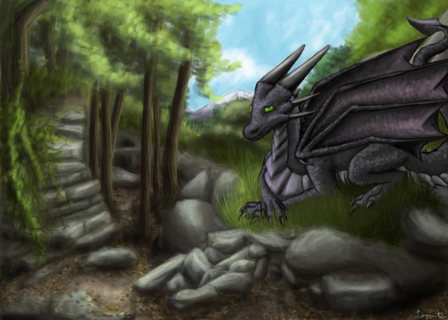 Korageth The Black Dragon by lavaheart626