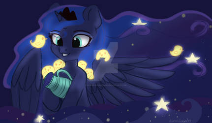 Princess Luna fills your dreams(redraw)