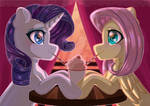 Meeting at the cafe by AuroraCursed80
