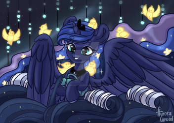 Princess Luna fills your dreams (redraw again)