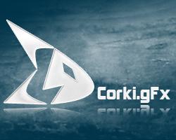 Logo Corki.gFx by corki-gfx