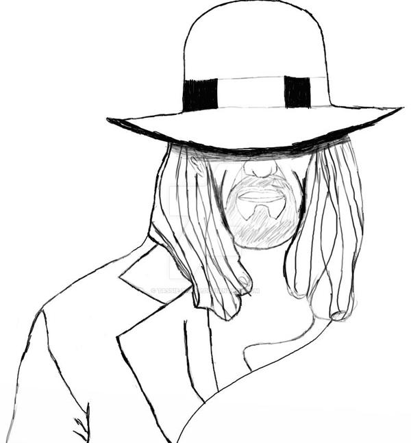 The undertaker drawn by tassie taker on deviantart for Undertaker coloring pages