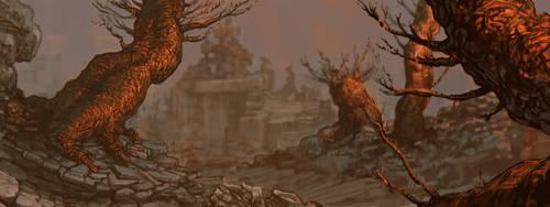 Ruin by Dawn by Amphitaman