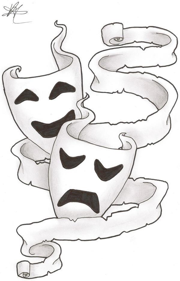 theatre masks by dark wifey on deviantart. Black Bedroom Furniture Sets. Home Design Ideas