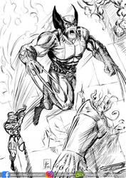 Wolverine / Colossus Ink