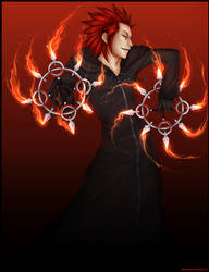 KH - flame dancer by lalalychee
