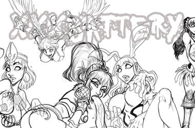 WIP QUEENS BLADE by xxxbattery