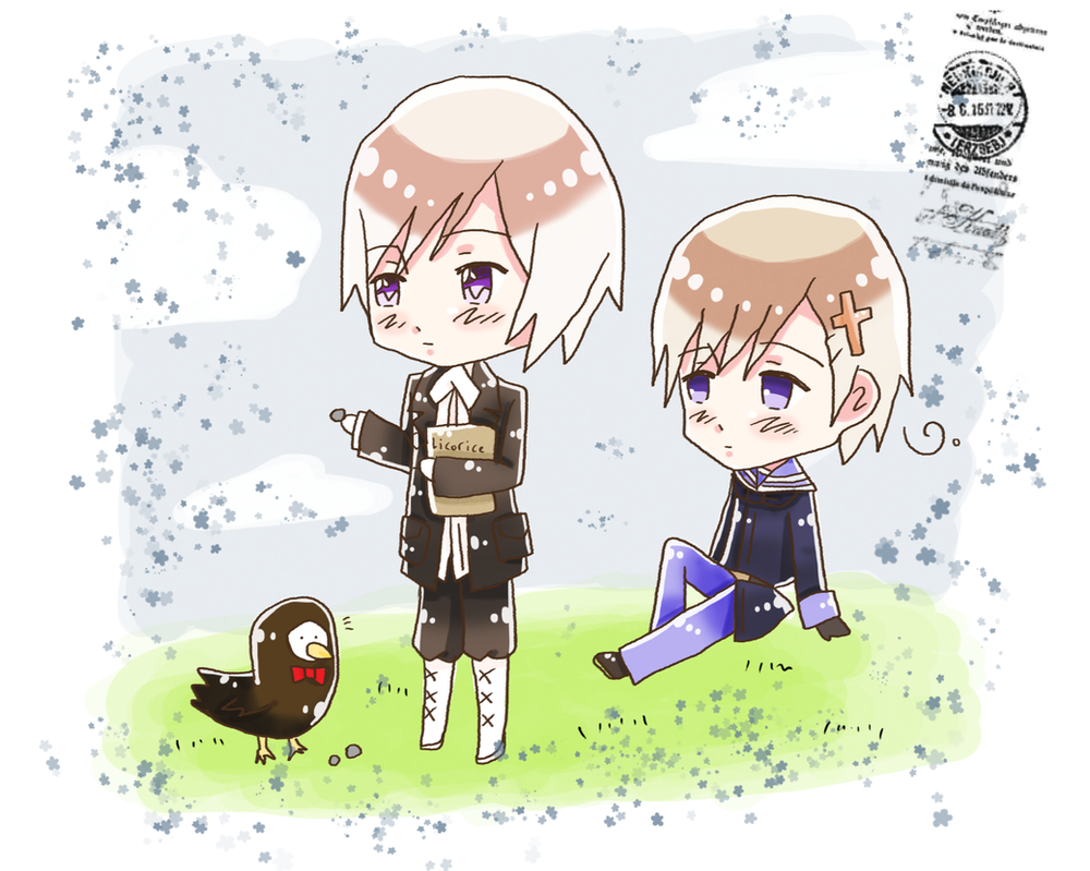 + APH: Chibi Norway and Iceland + by Serket-XXI