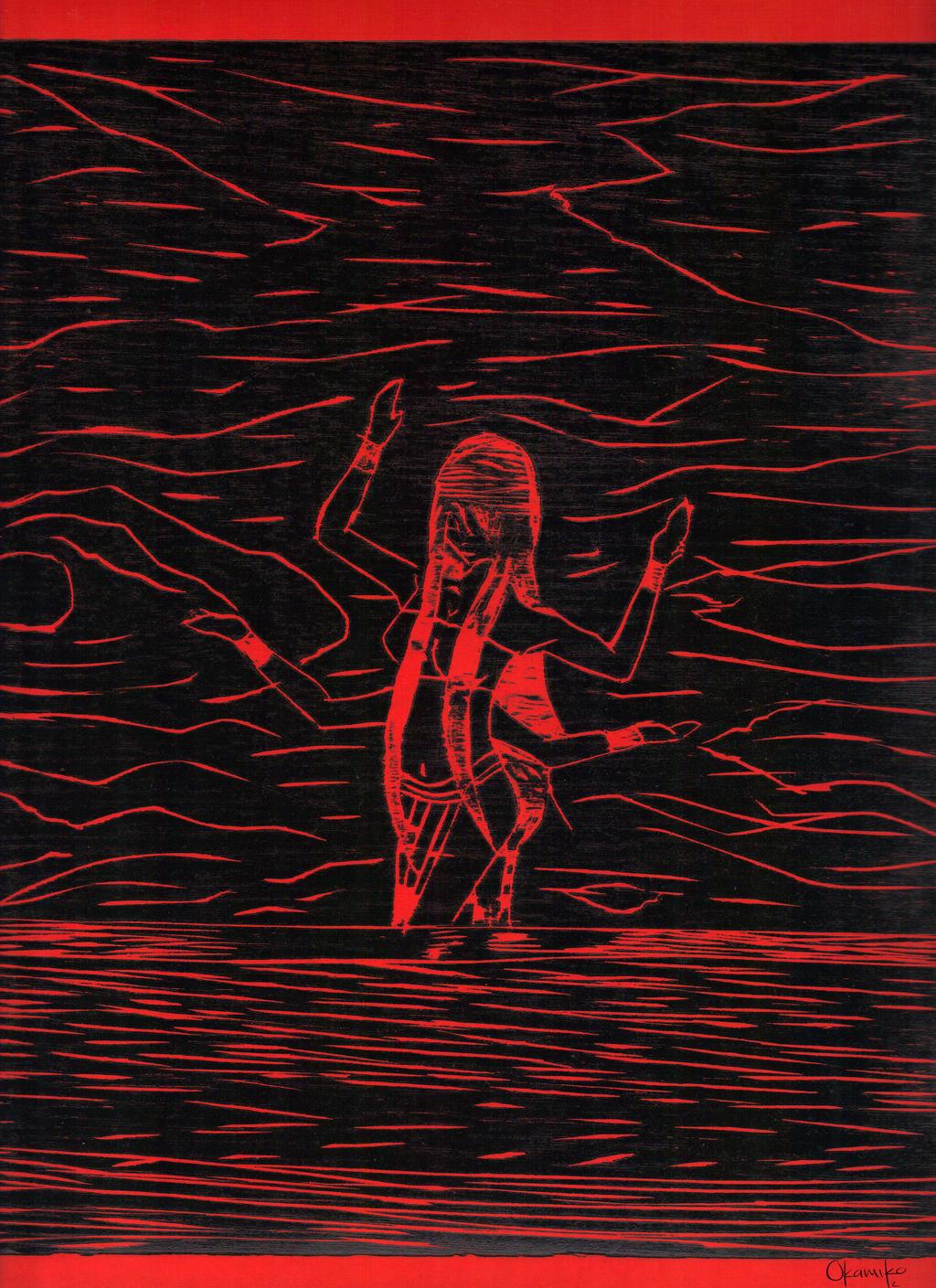 Psychedelic Dancing Ver. Red [Grabado] by syko-girl