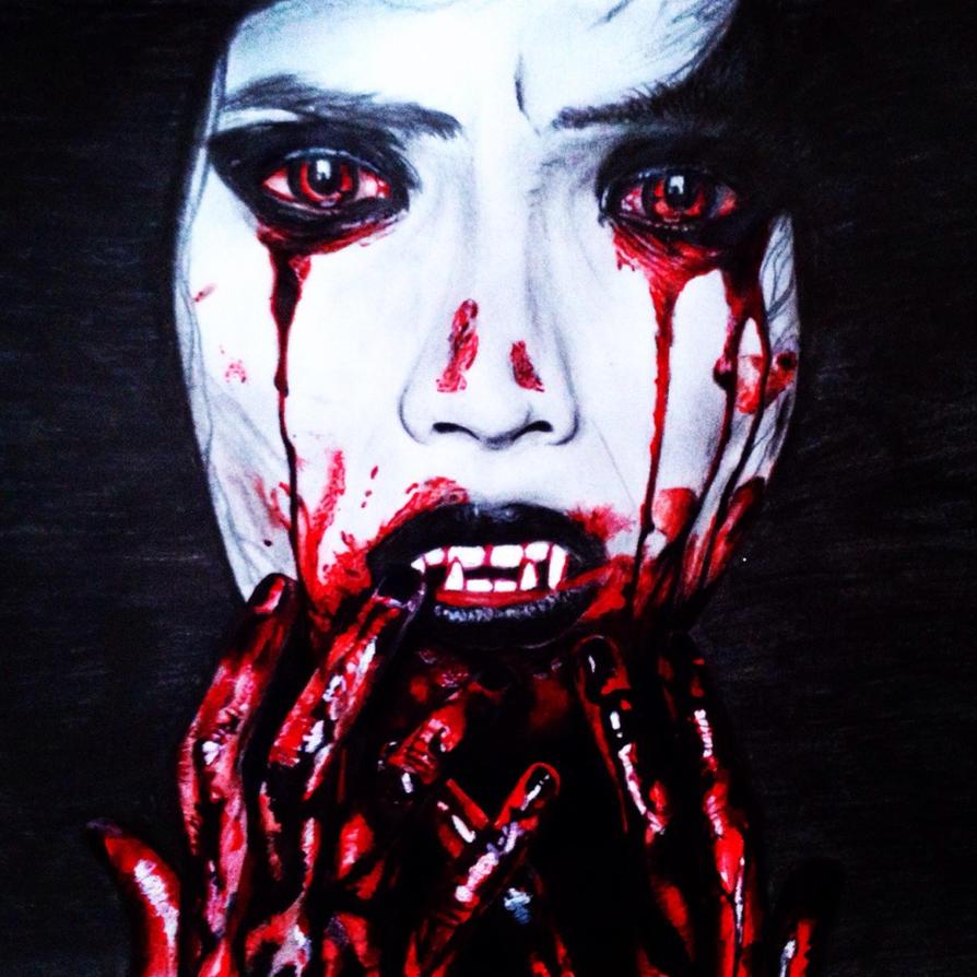 gothic vampire bloody girl - photo #19