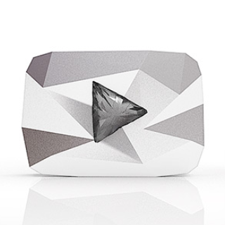 Youtube Diamond Play Button 320x by GARYOSAVAN
