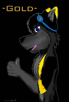 Gold Wolf Con badge