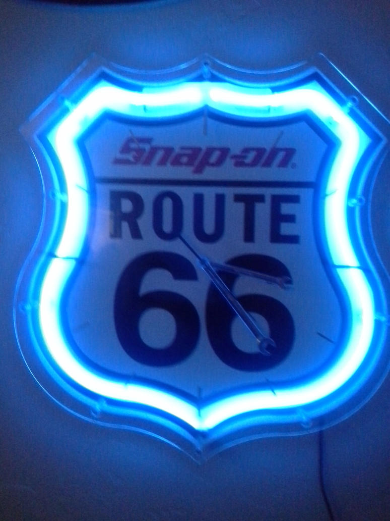 Neon Snap On Route 66 Clock By Dragonwolf1775 On Deviantart