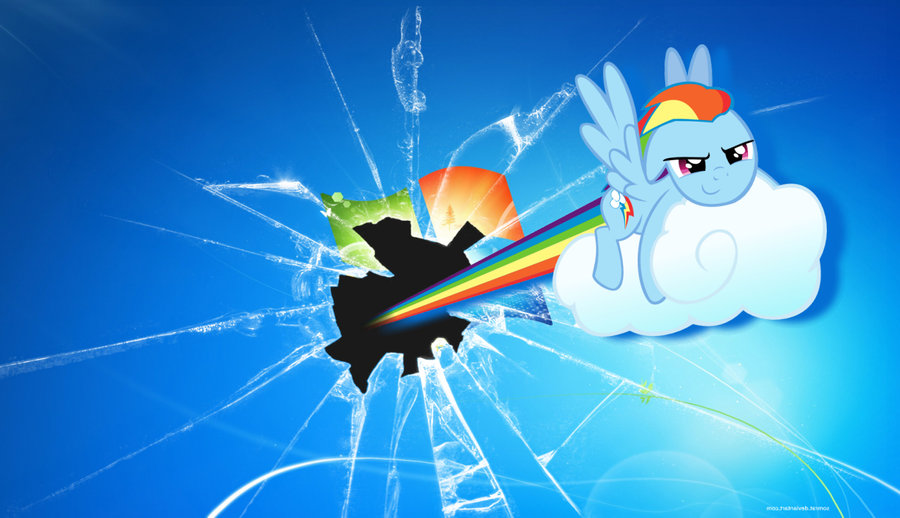 Rainbow Dash Breaking The Fourth Wall By Amy2468101214