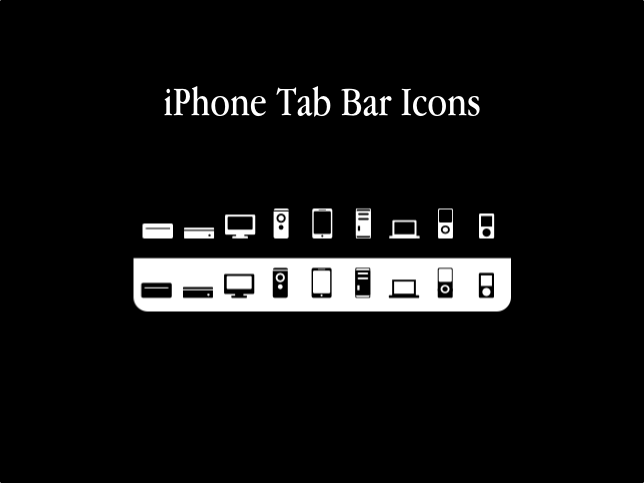 iPhone Tab Bar Icons-Apple HW by smykes24