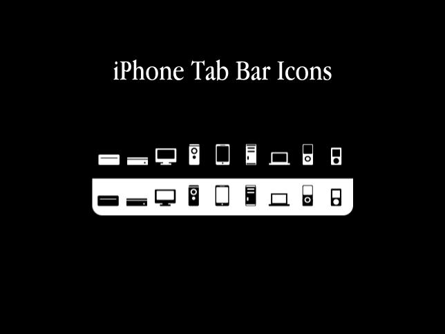 iPhone Tab Bar Icons-Apple HW