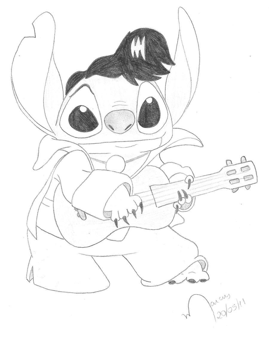 Elvis stitch by mavi95 on deviantart for Elvis coloring pages