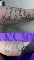 Tattoo - Falling Cat for Jita - WIP