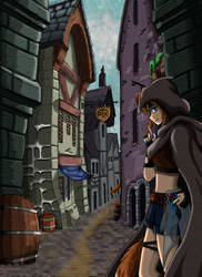 Thief in the alley (OC) by SakuraAtsue