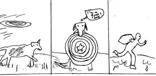 Captain America Shield Fetch by NinjaFingers