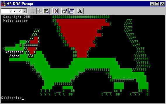 ANSI Dragon by woekitten