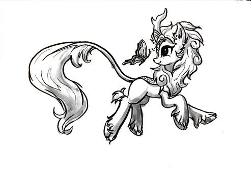 Autumn blaze with butterfly