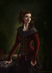 the queen of daggers portrait by marthe-rosenow