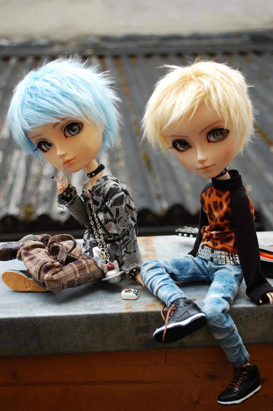 Shin'ichi and Nobu by Chu-Boo