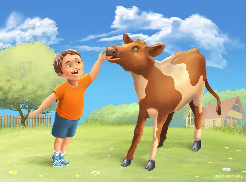 Boy and the Calf by Garri69