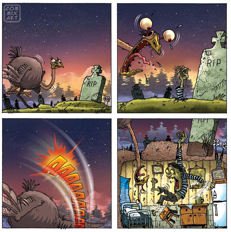 Ostrich. Fear 51 by Garri69