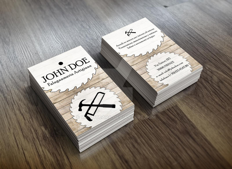 Carpenter Business Card By Wennycara On DeviantArt - Carpenter business card template
