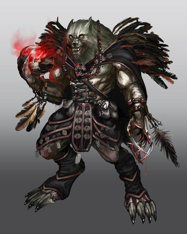 Werewulf Shamane Lord by Raphelt