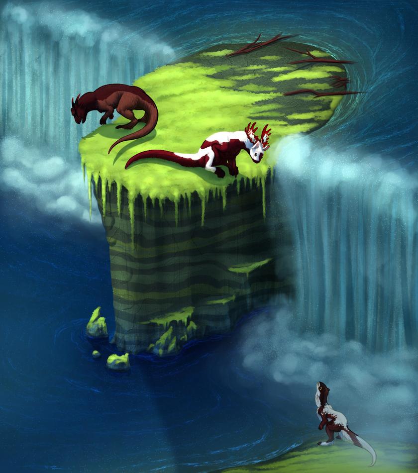 Thundering Falls by JadeRavenwing