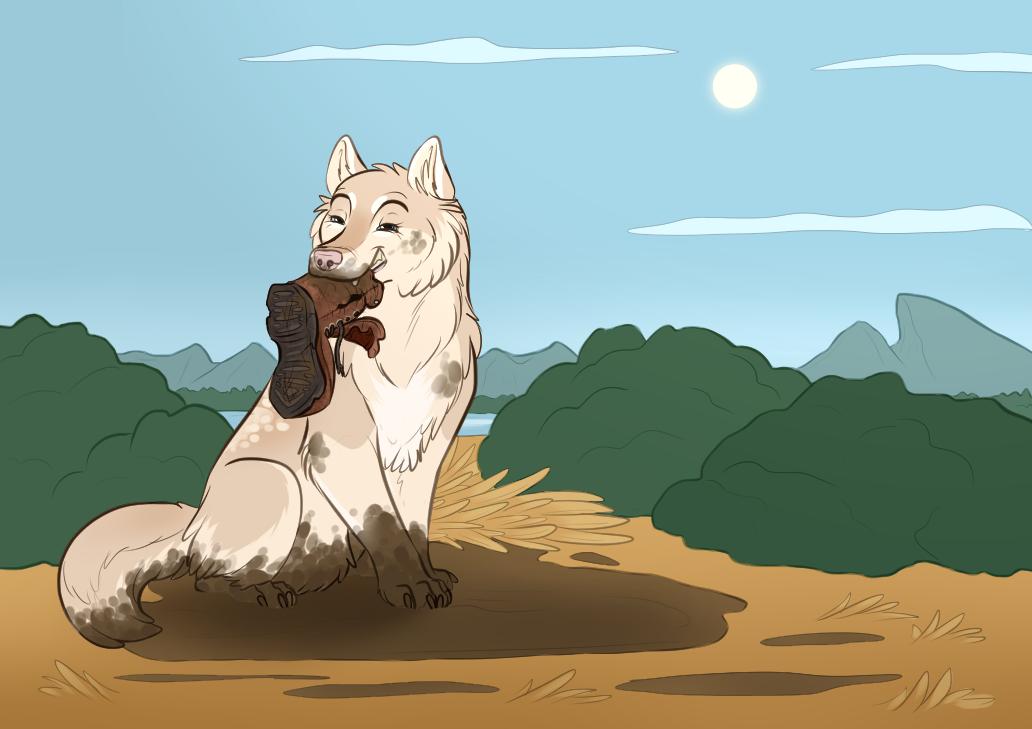 Mud Pup by JadeRavenwing