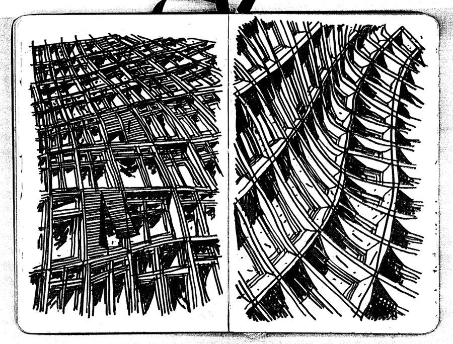 Istanbulscape Moleskine Notebook Page 35-36 by KadirYardimci