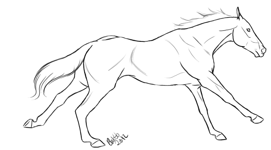 thoroughbred coloring pages - photo#3