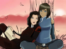 asami and korra by dany36