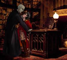 Dumbledore's Desk by LevitatingShrubbery