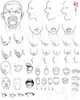 Study: Open mouths by The-Nai