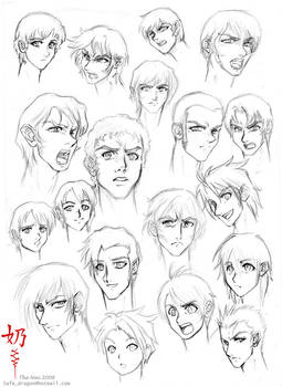Study: Faces and hair male