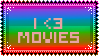 I heart movies stamp by lokifan50