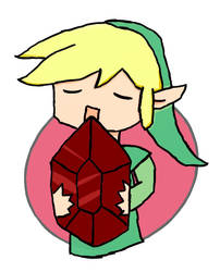 Link holding a rupee