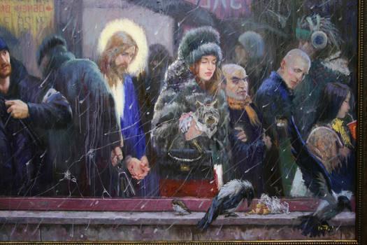 The mirror /2009 (detaile) oil/canvas 100x200 cm