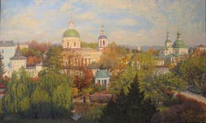 Danilov Monastery / 2011 / oil/canvas / 100x60 cm