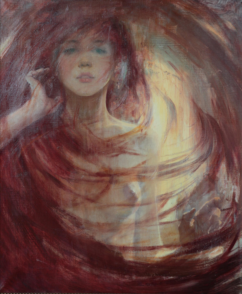 The Venus' hair /2014/oil/canvas /50x60cm by Vladimir-Kireev