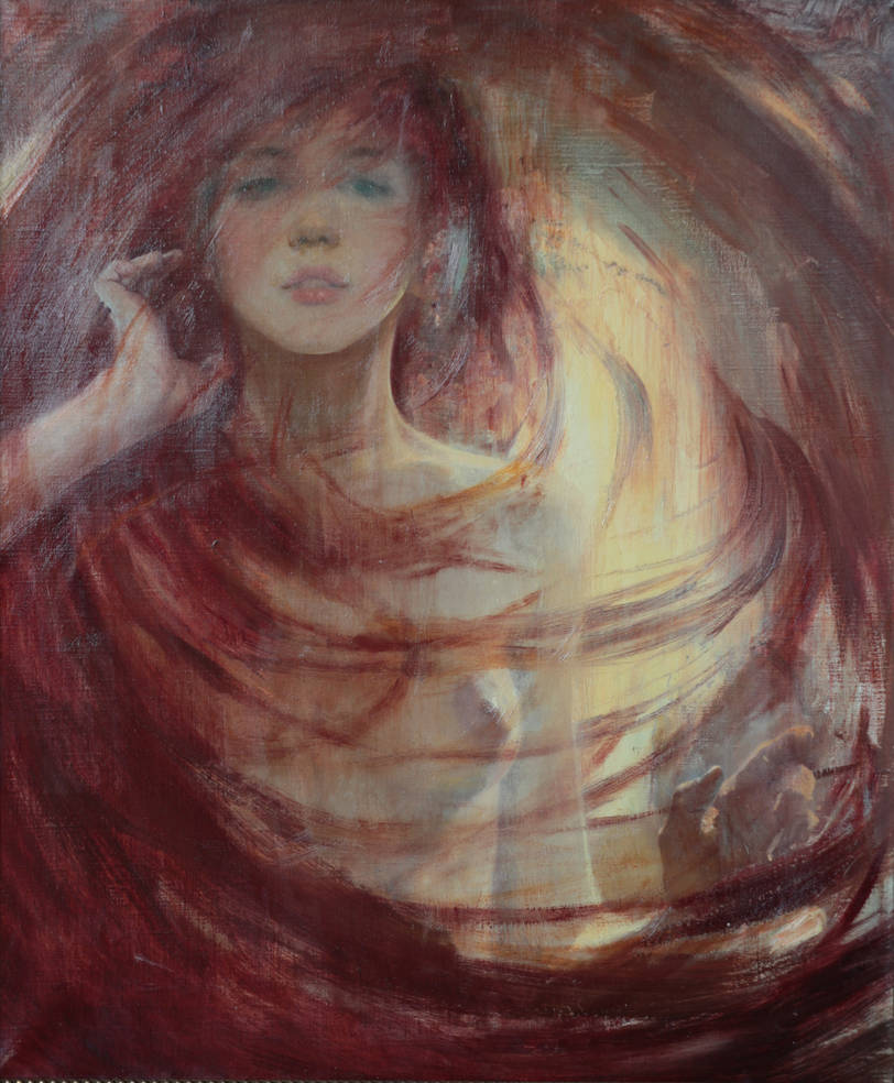 The Venus' hair /2014/oil/canvas /50x60cm