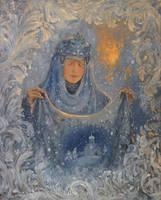 The veil (Intercession) by Vladimir-Kireev