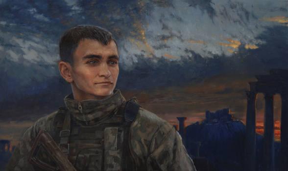 WINNER. Portrait of Alexander Prokhorenko.