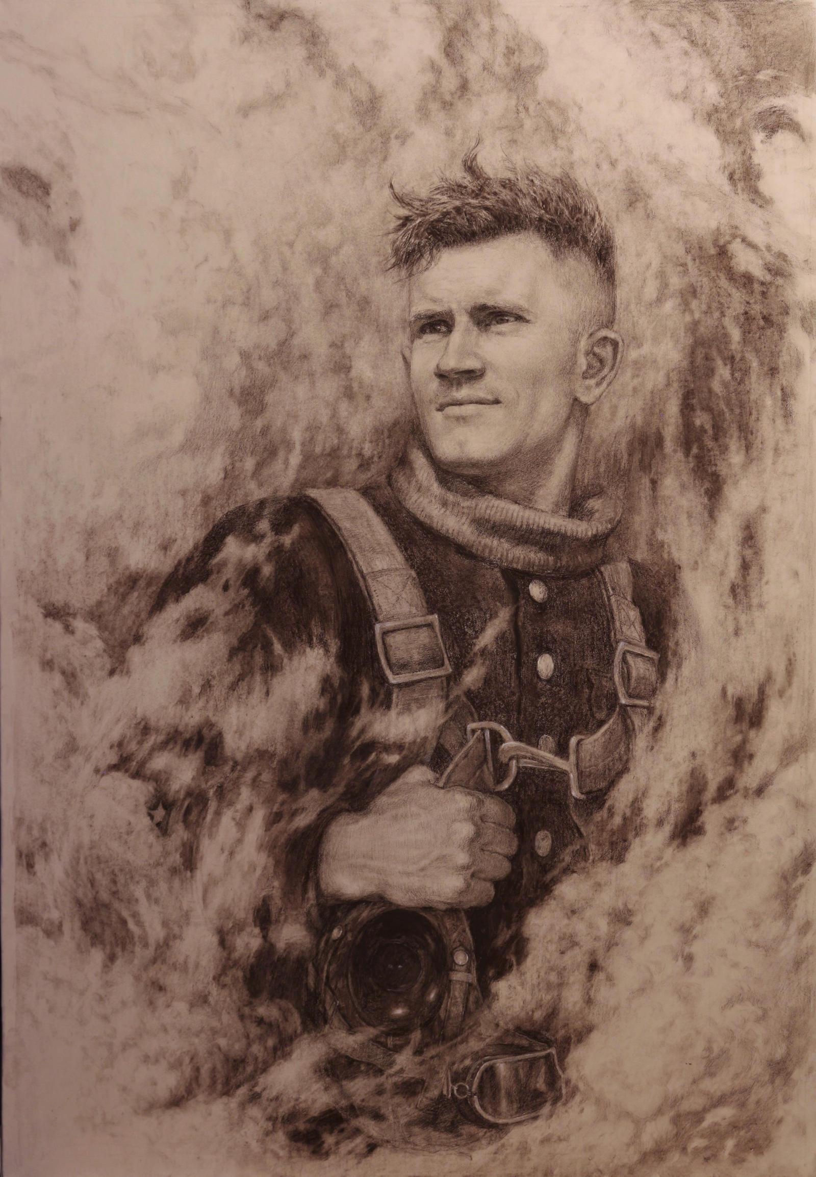 THE CELESTIAL.Portrait  Hero USSR Zakhar Sorokin