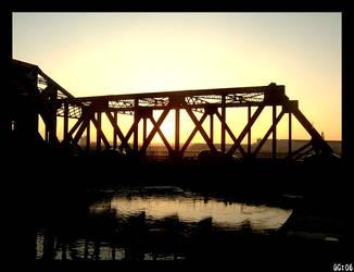 Sunset on the Bridge by katcat